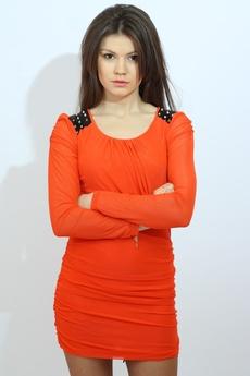 Платье с шипами на плечах Kokette