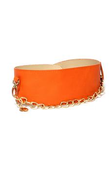 Оранжевый ремень с цепочкой Mondigo