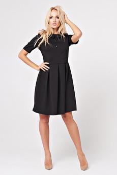 Черное платье с коротким рукавом Carlo Bottichelli