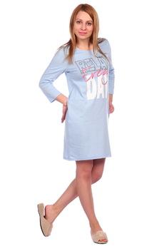 Сорочка ночная_С-44_голубая ElenaTex