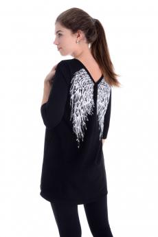 Черная туника с крыльями Malina
