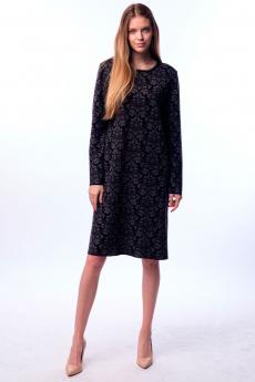 Черное трикотажное платье Kvinto со скидкой