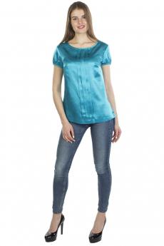 Бирюзовая блузка с коротким рукавом Bast